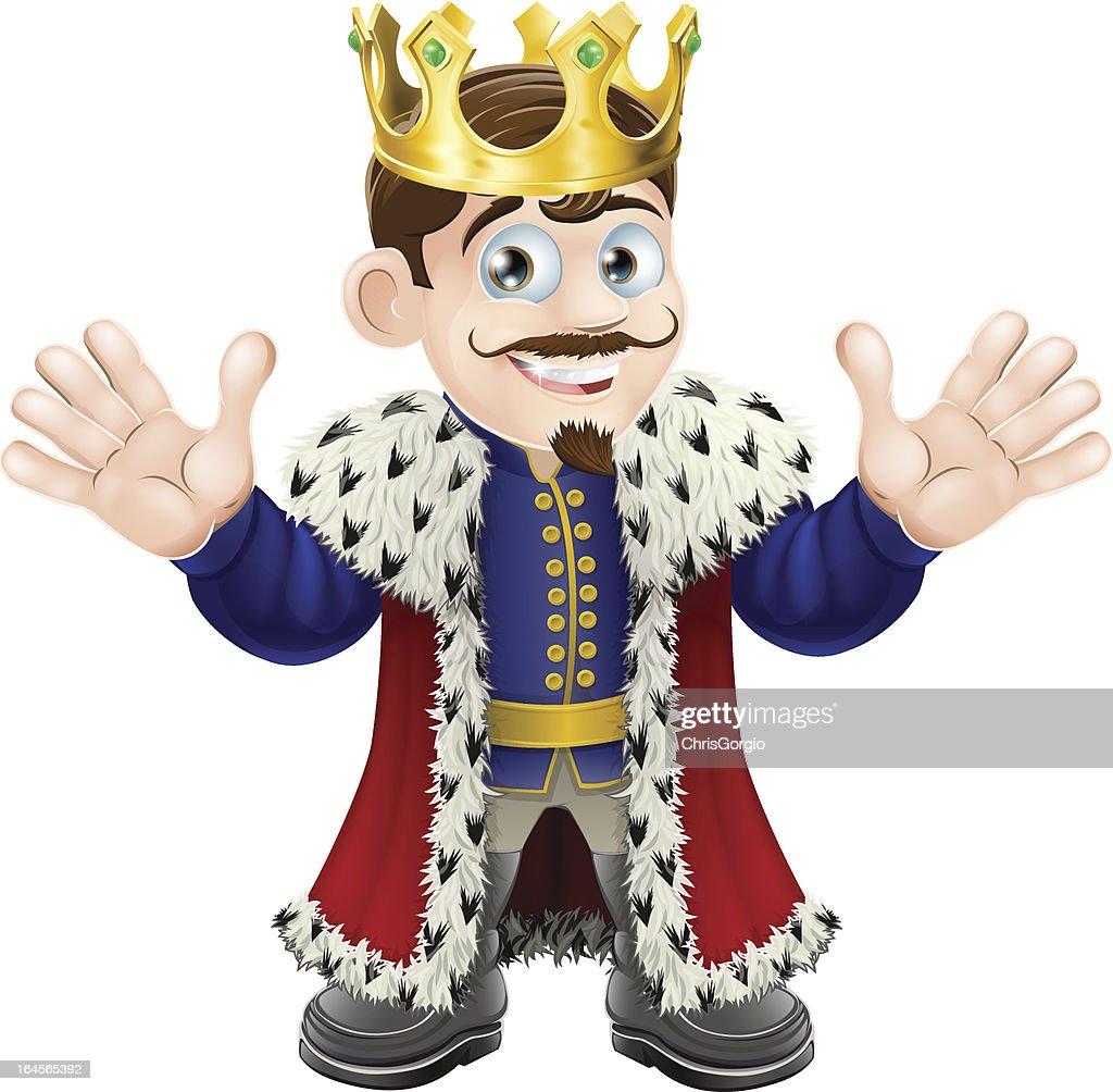 Cute king man