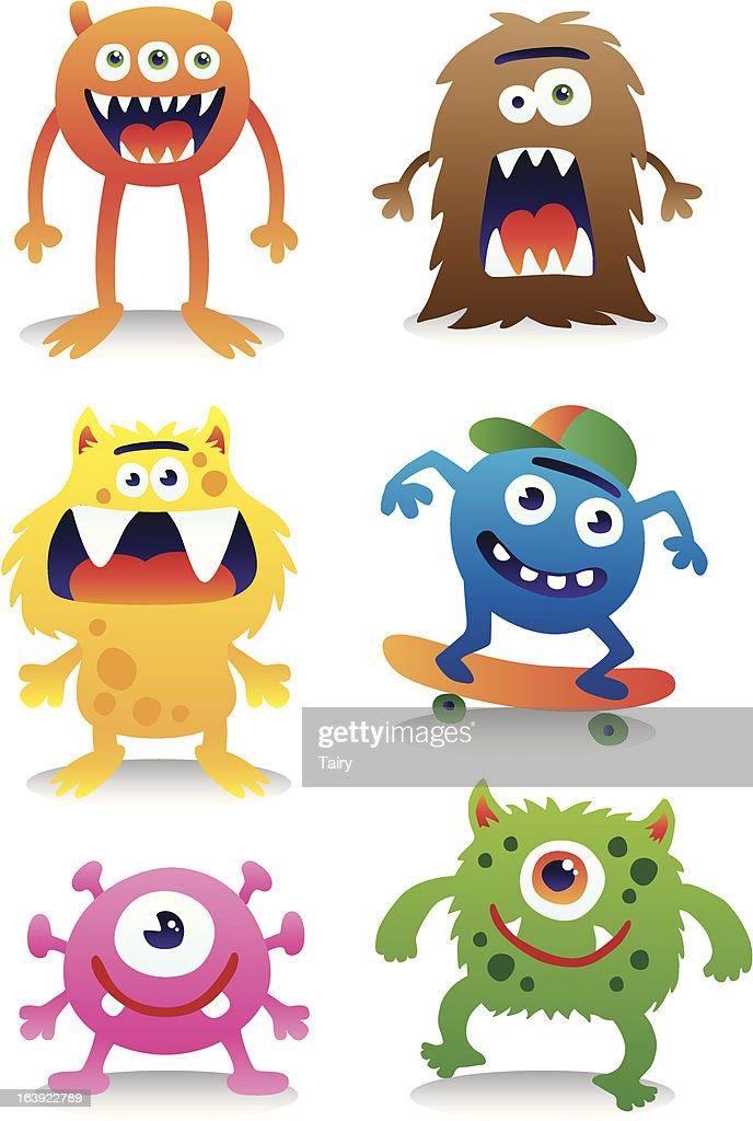 Cute monster vector set