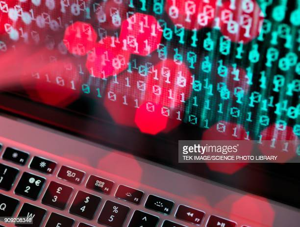 cyber crime, conceptual image - online bullying stock illustrations