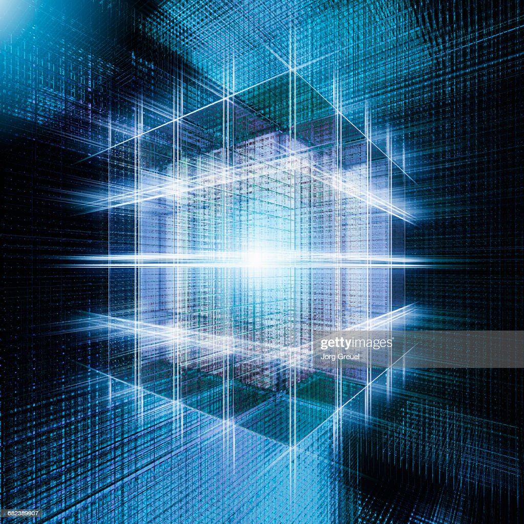Cyber cube : Stock Illustration