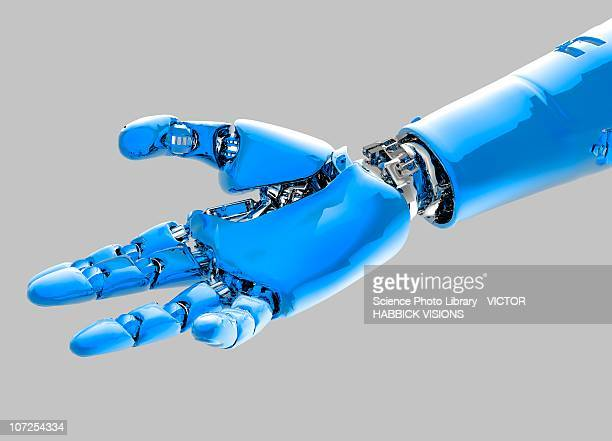 cybernetic arm, artwork - technology stock illustrations