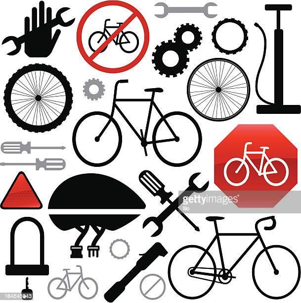 cycling elements - bike helmet stock illustrations, clip art, cartoons, & icons