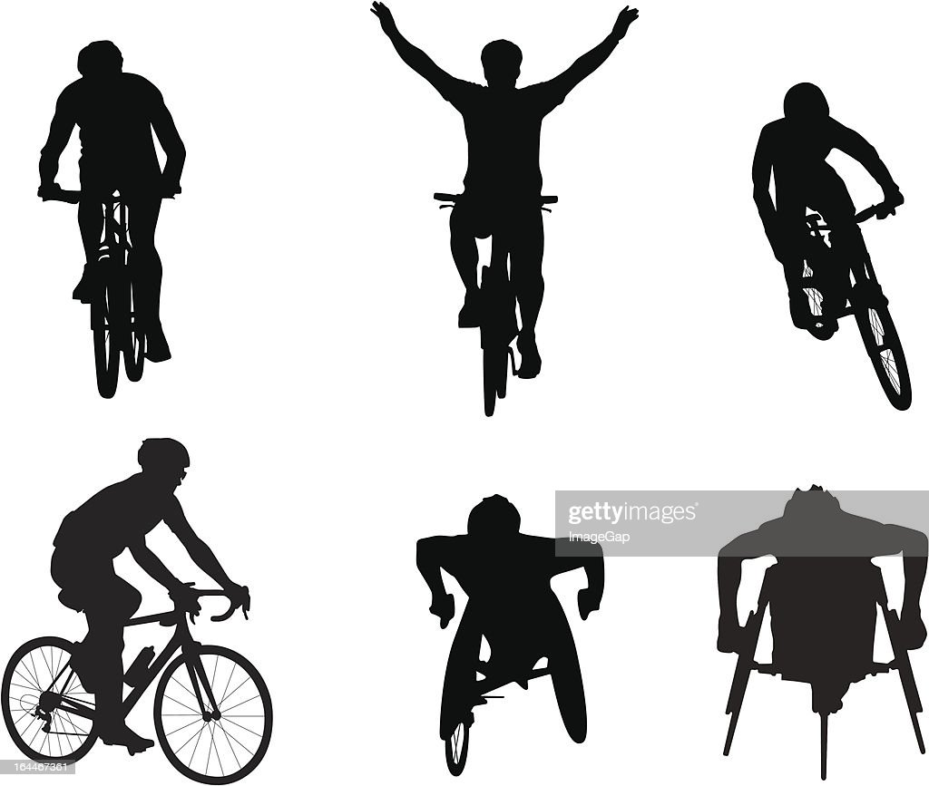 Cyclists and wheelchair racers