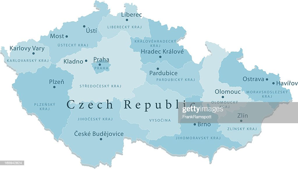 Czech Republic Vector Map Regions Isolated Vector Art Getty Images