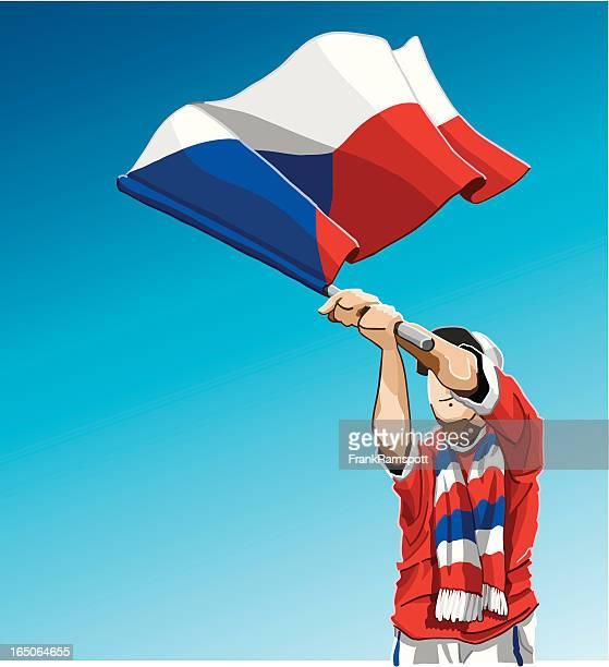 Czech Republic Waving Flag Soccer Fan