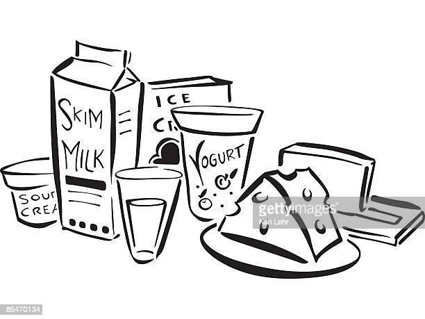 dairy products - frozen yogurt stock illustrations, clip art, cartoons, & icons