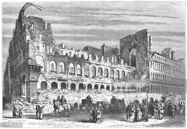 Damage to the 36 quai des Orfèvres After the Siege of Paris - 19th Century