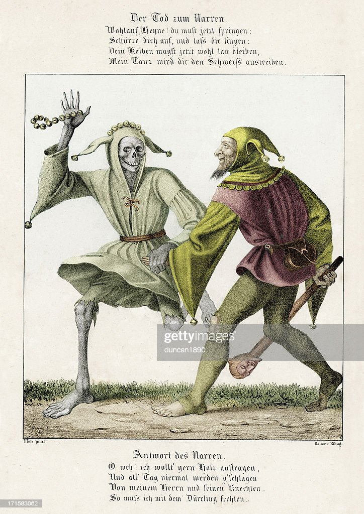 Dance of Death - The Fool : stock illustration