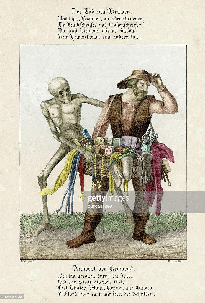 Dance of Death - The Pedlar : stock illustration