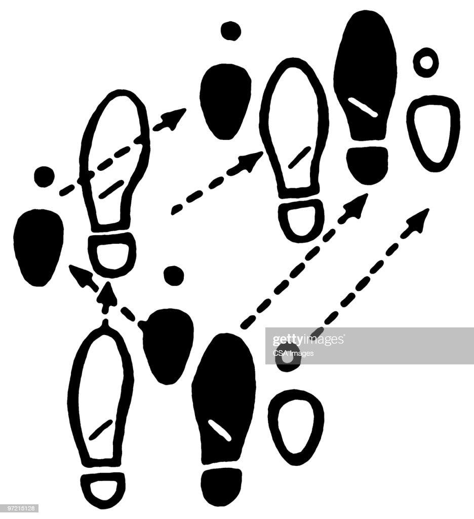 dance steps stock illustration