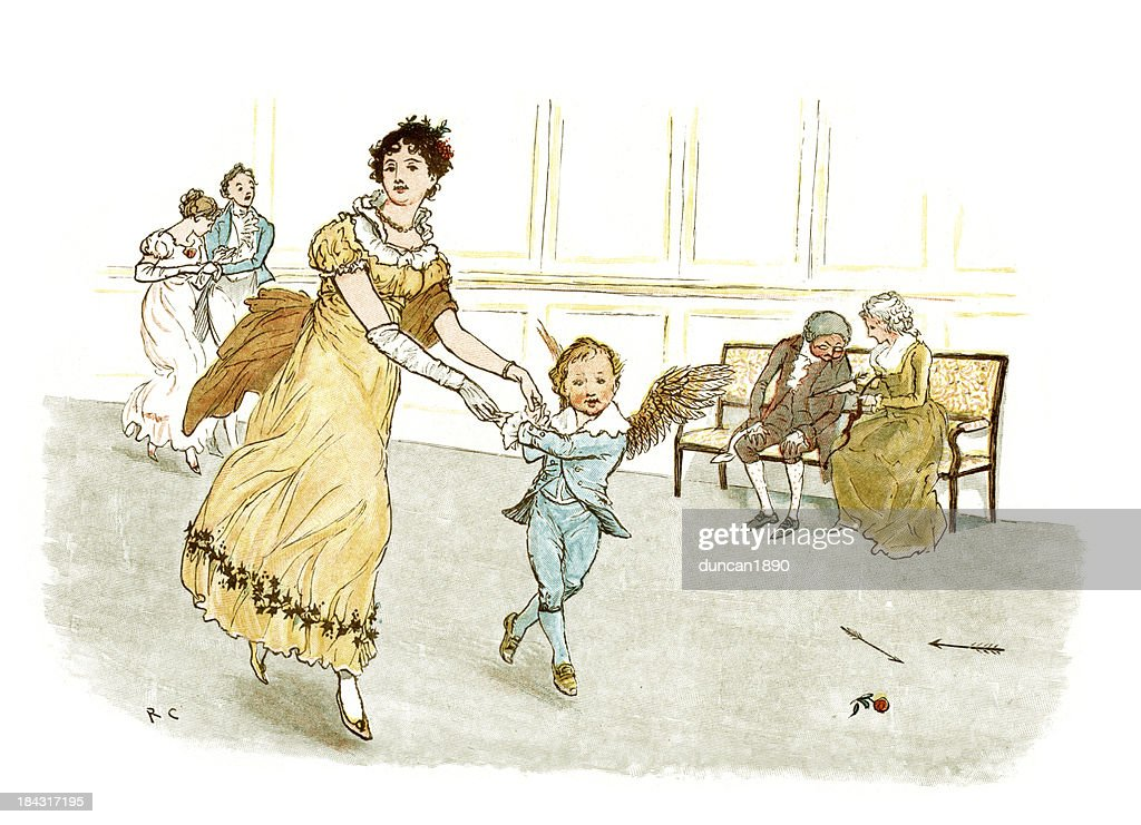 Dance with Cupid : stock illustration