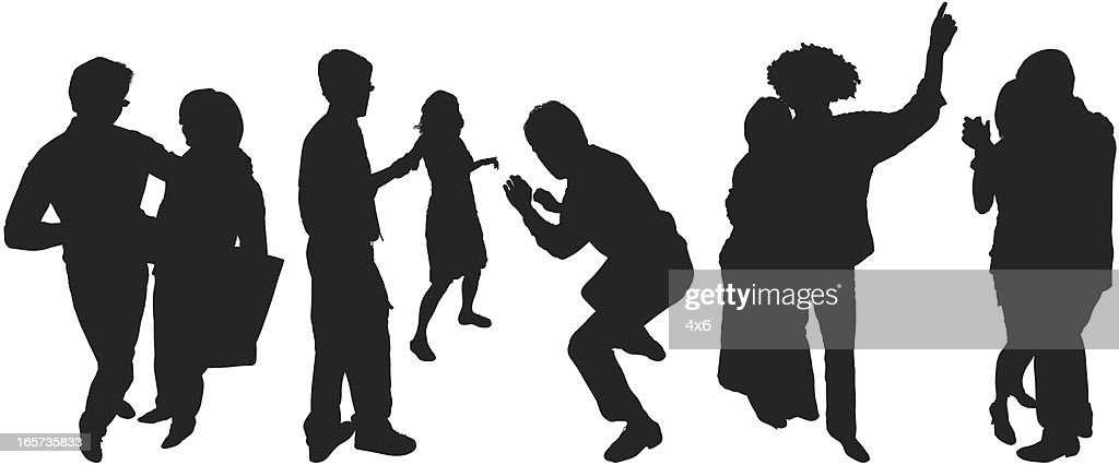 Dancers in action : stock illustration
