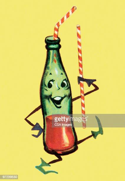 Dancing Bottle with Straws
