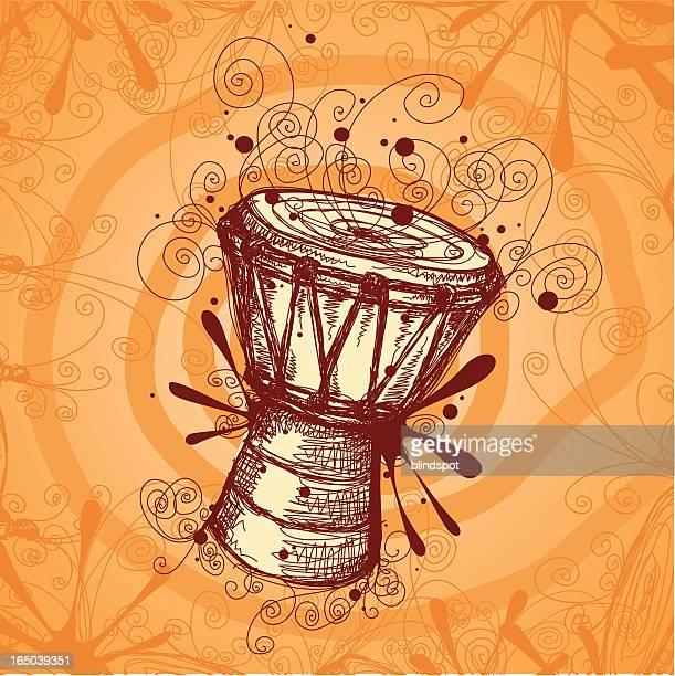 ilustrações, clipart, desenhos animados e ícones de tambor de dança - arte, cultura e espetáculo