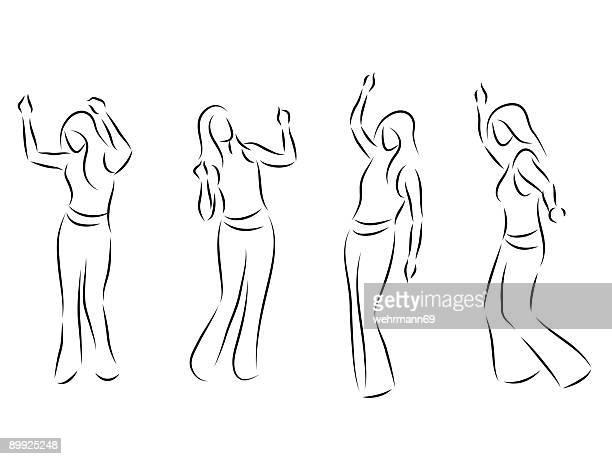 ilustraciones, imágenes clip art, dibujos animados e iconos de stock de de baile - baile moderno