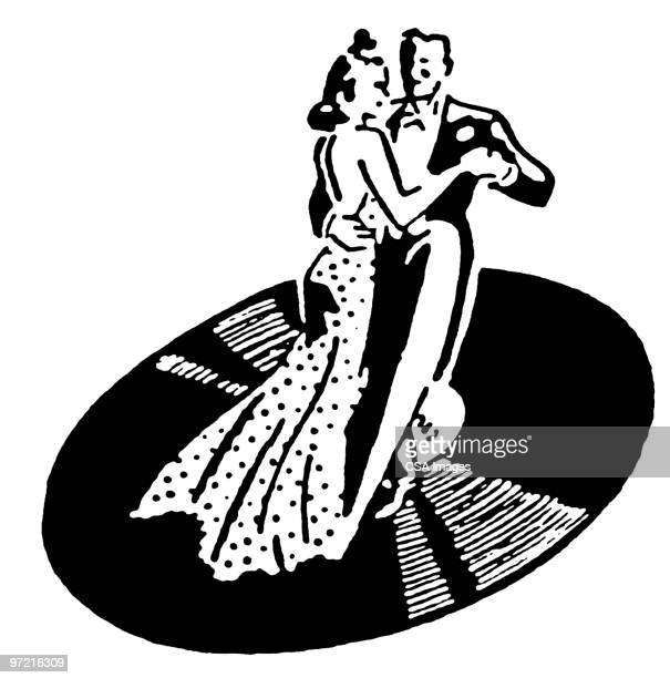 dancing - ballroom stock illustrations