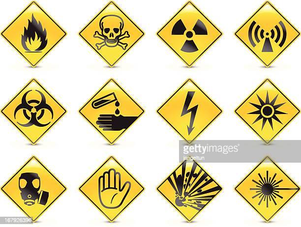 危険コード - バイオハザードマーク点のイラスト素材/クリップアート素材/マンガ素材/アイコン素材