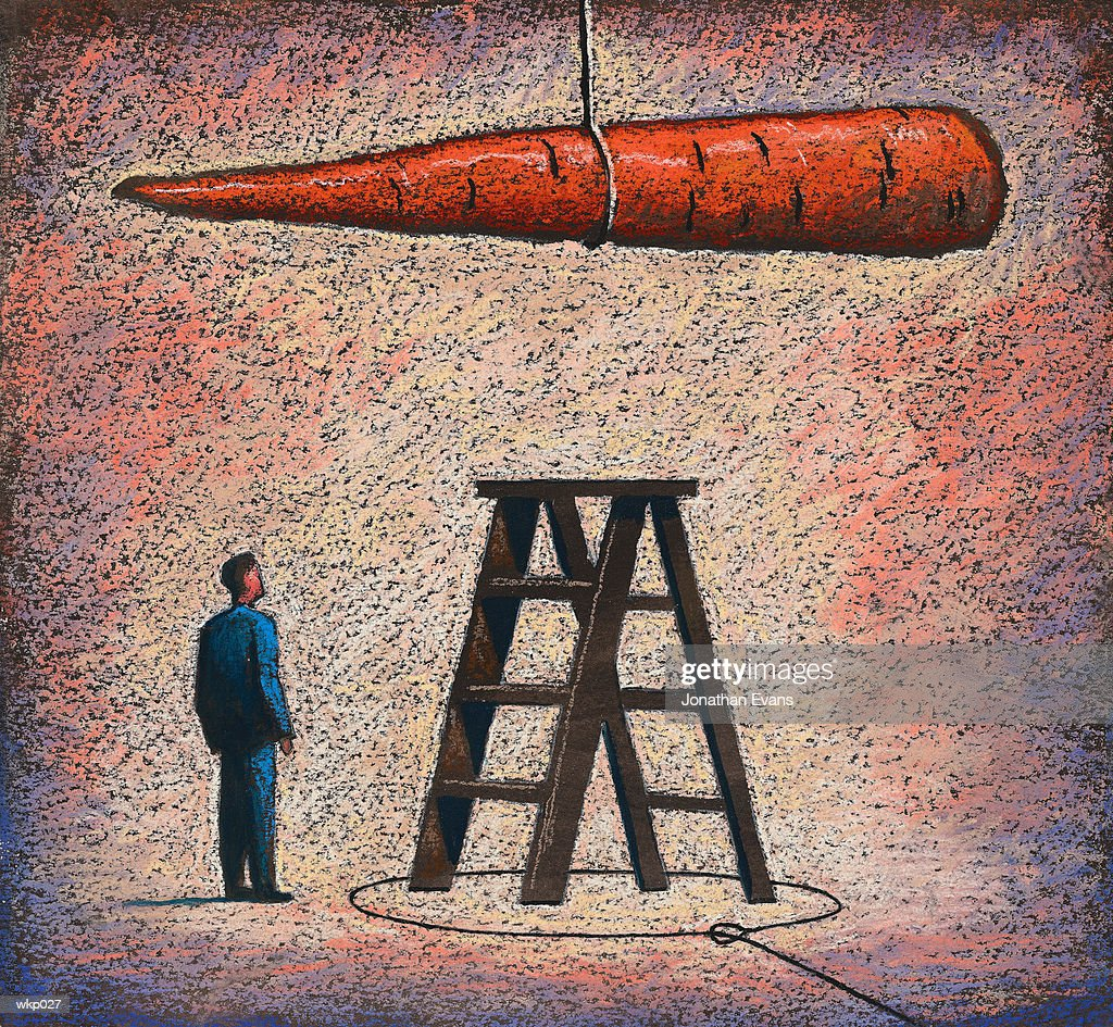 Dangling a Carrot : Stockillustraties
