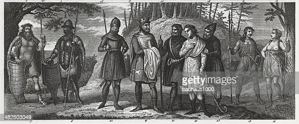 Danish King and Warriors