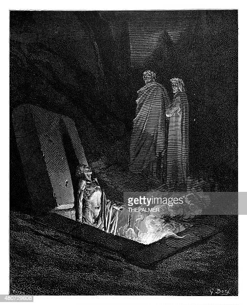 Dante and Virgil before Farinata