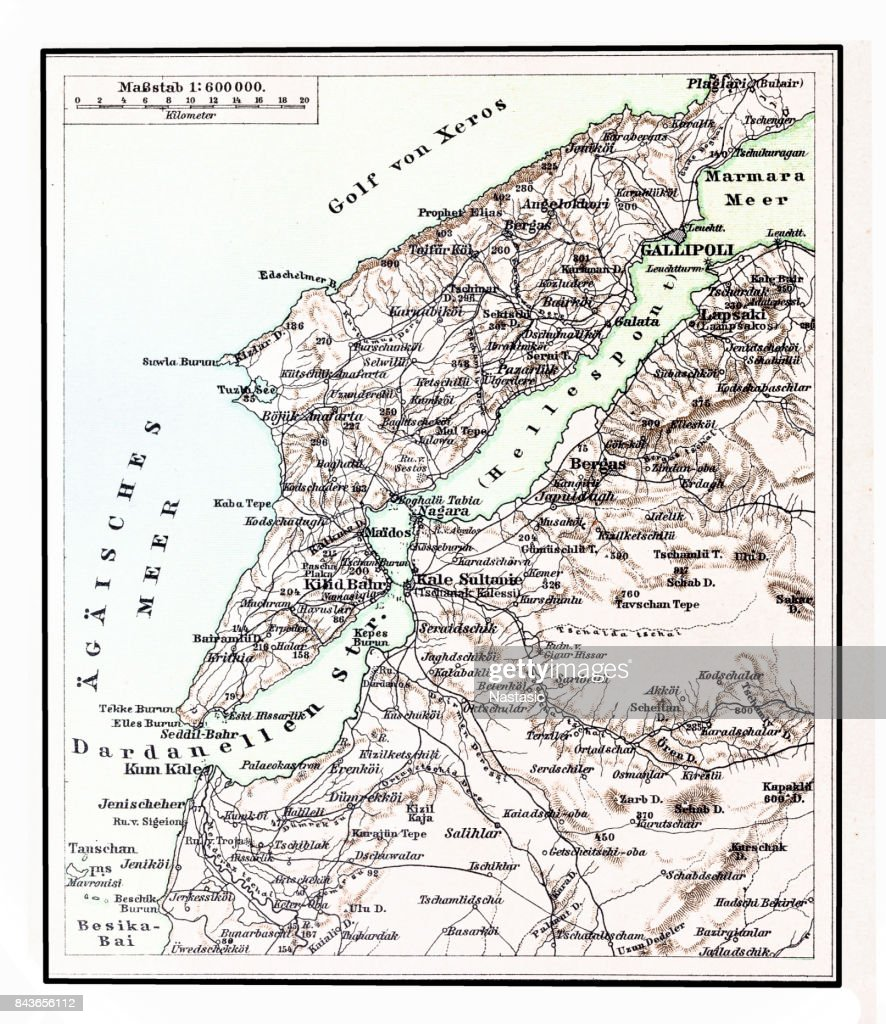 Dardanelles Map stock illustration - Getty Images on