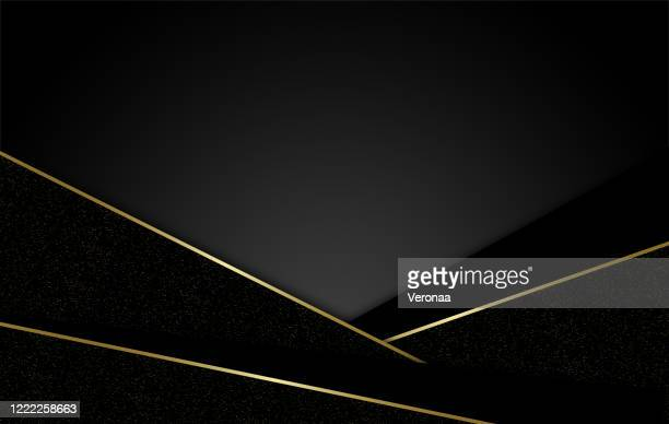 dark corporate stripes abstract background with gold decorative lines. - marbled effect stock illustrations