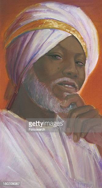 Dark-skinned man with a turban
