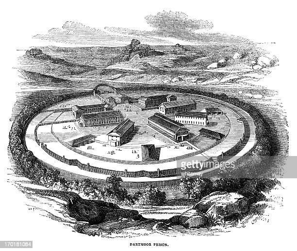 Dartmoor Prison (Victorian engraving 1855)