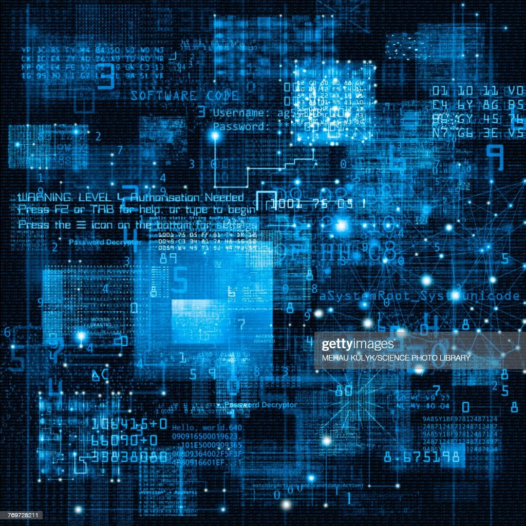Data and network, illustration : stock illustration