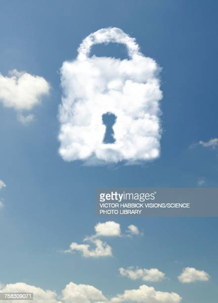 data cloud security , illustration - keyhole stock illustrations, clip art, cartoons, & icons