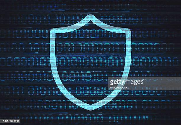 データ保護 - 防犯システム点のイラスト素材/クリップアート素材/マンガ素材/アイコン素材