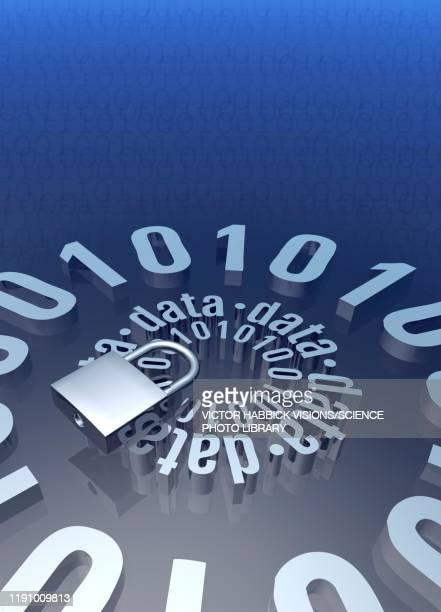 data security, illustration - lock stock illustrations