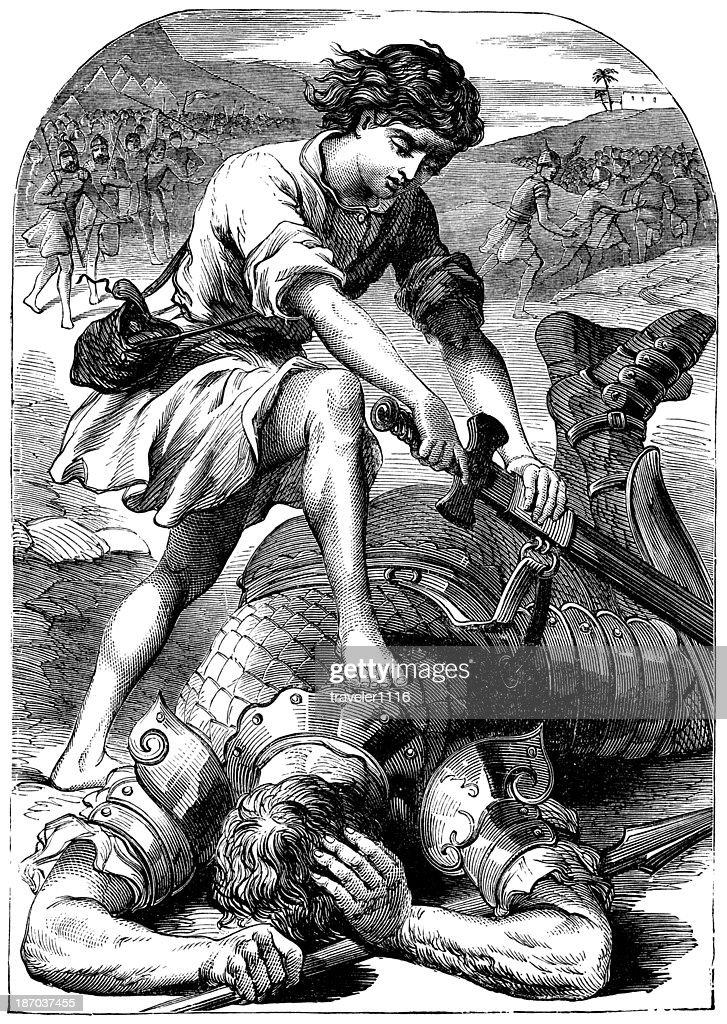 David And Goliath : stock illustration