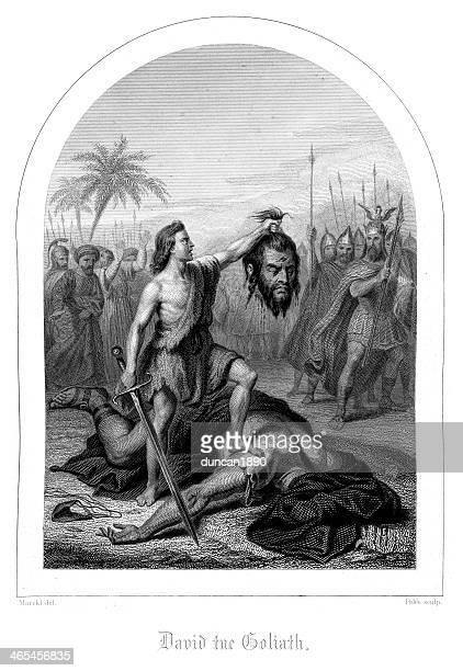 david and goliath - 1840 1849 stock illustrations