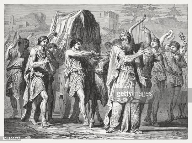 デビッドは、エルサレムに箱舟をもたらします (2 サムエル 6) - 聖約の箱点のイラスト素材/クリップアート素材/マンガ素材/アイコン素材