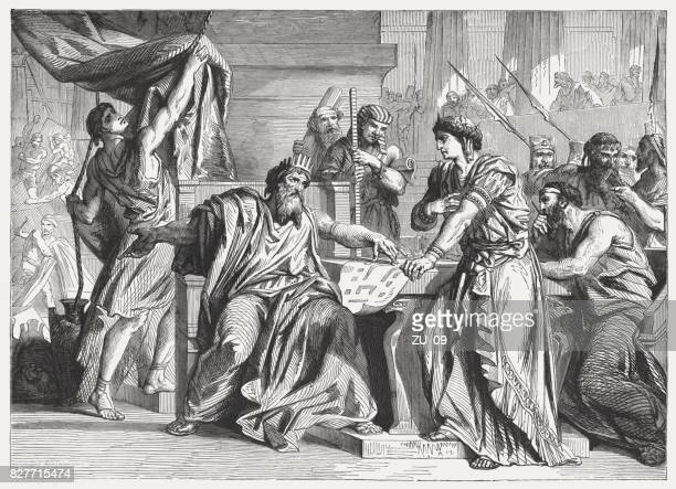 david commissions solomon to build the temple (1 chronicles 28) - temple building stock illustrations, clip art, cartoons, & icons