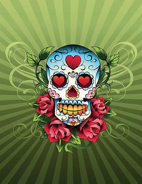 Day Of The Dead Skull Wall Art