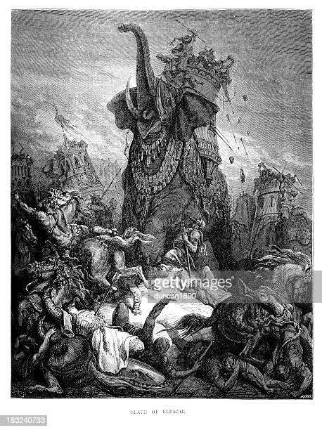 death of eleazar - judas iscariot stock illustrations