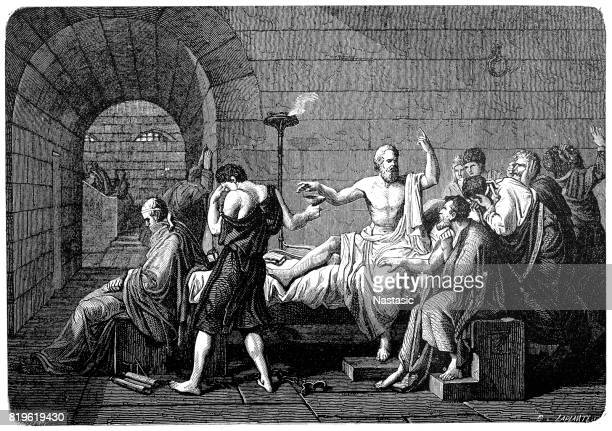 death of socrates by poison, 469-399 b.c. - terminal illness stock illustrations, clip art, cartoons, & icons