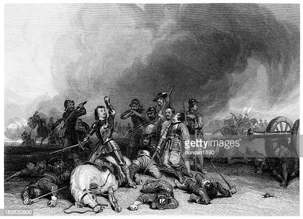 death of the earl northampton - northampton england stock illustrations