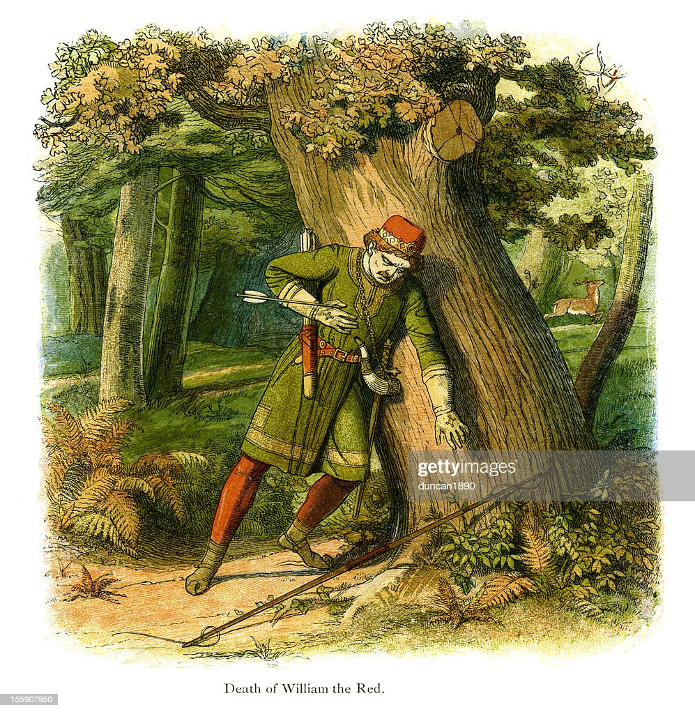 Death of William the Red : stock illustration