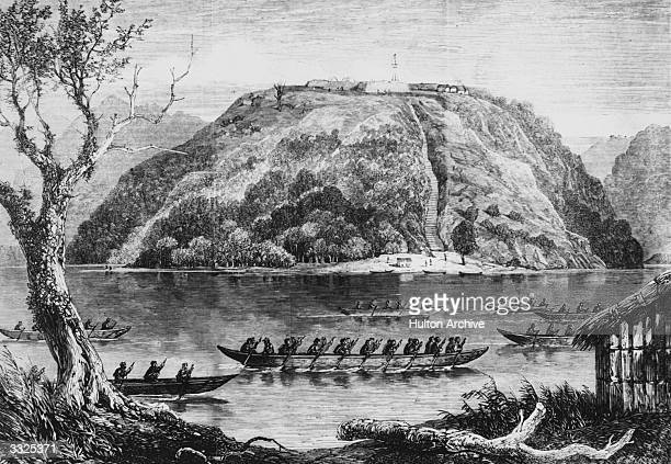 Alexander Redoubt on the Waikato River The cliff was occupied by a detachment of the 65th regiment who built the redoubt and soldiers of the regiment...