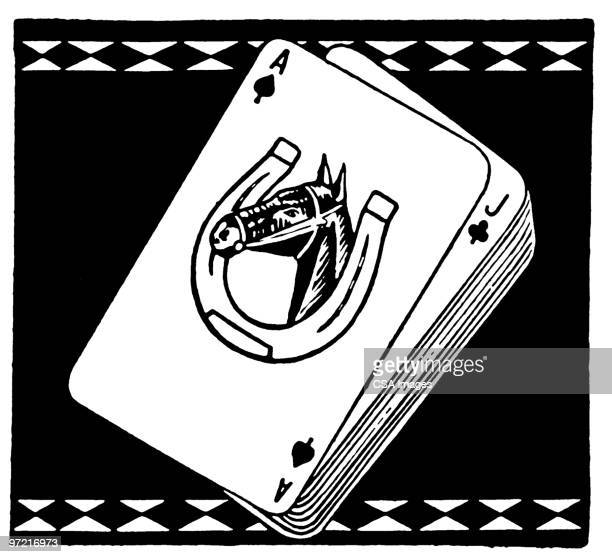 deck of cards - naughty america stock illustrations
