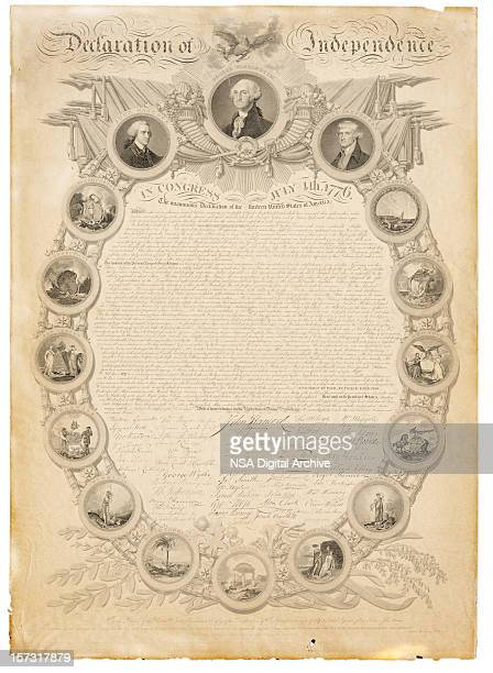 us declaration of independence - declaration of independence stock illustrations