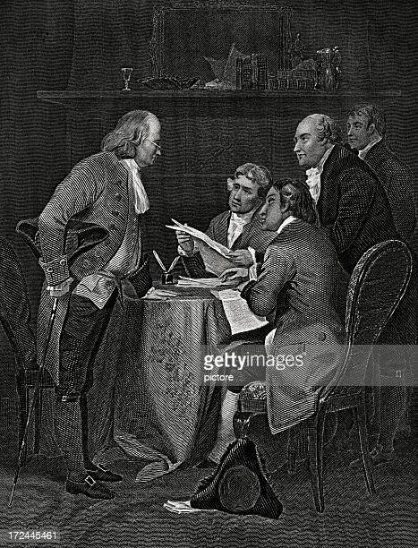 declaration of independence,july 4,1776. - declaration of independence stock illustrations