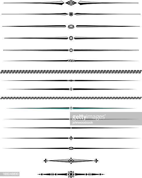 decorative lines two - decoration stock illustrations