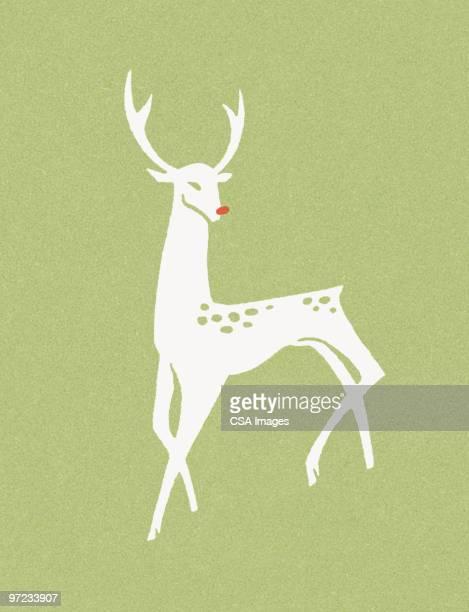 60点の赤鼻のトナカイのイラスト素材クリップアート素材マンガ素材