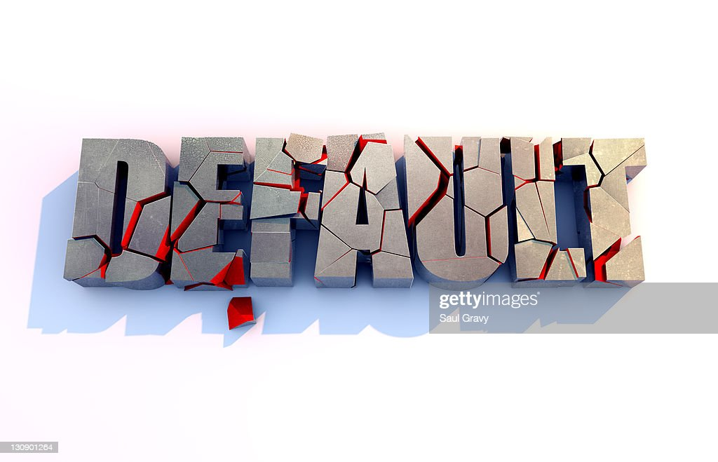 Default, in the red : stock illustration