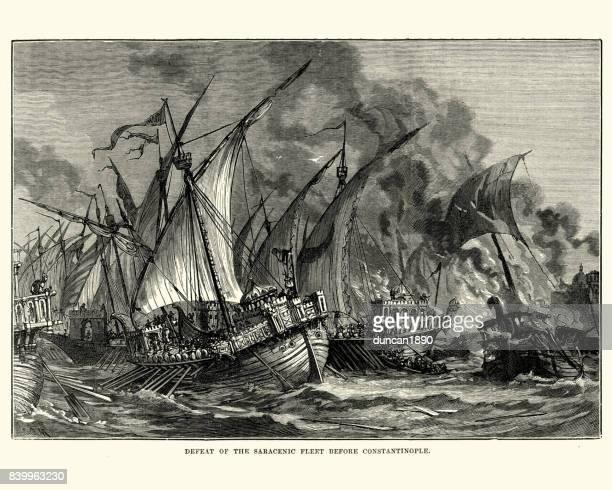 illustrations, cliparts, dessins animés et icônes de défaite de la flotte était avant constantinople - se disputer