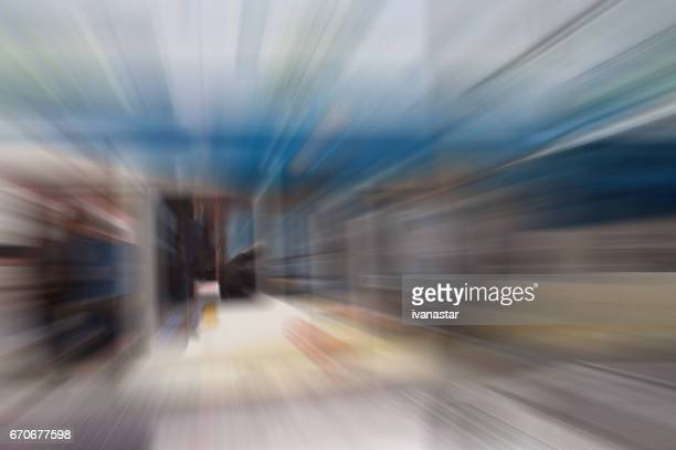 Defocused Architecture Blurred Motion Abstract Background